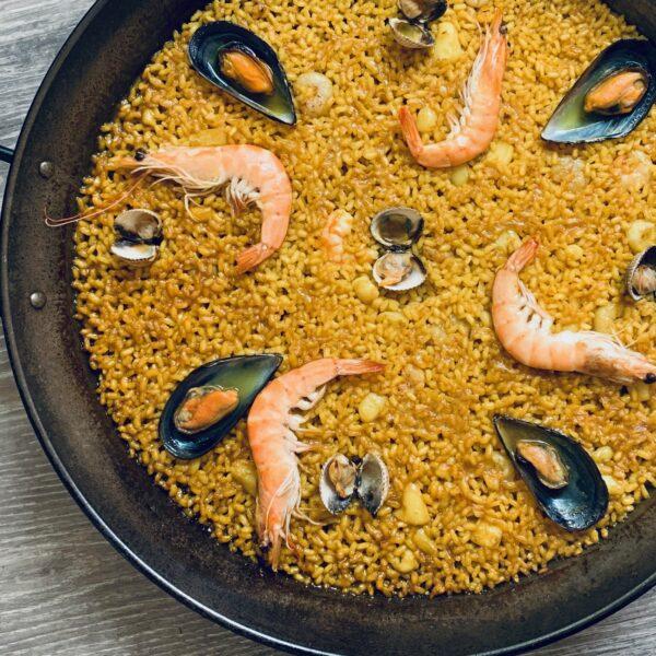 Paella de mariscos